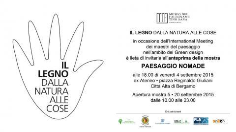 """A Bergamo, """"il legno dalla natura alle cose"""""""